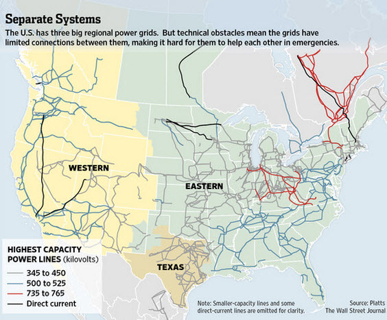 Electrical-Grid from the Wall Street Journal