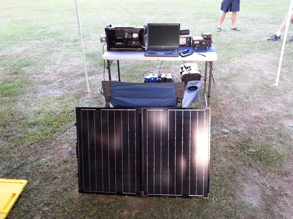 ARES go box with solar panels